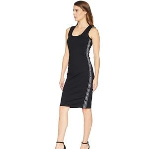 NWT Michael Kors Sportfill Logo Stripe Ponte Dress